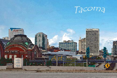 Tacoma Postcard, by Becky Frehse - A CITY WITH ART