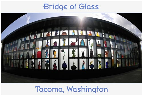 Tacoma Postcard, by Mick Klass - BRIDGE OF GLASS