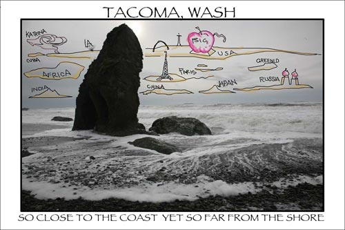 Tacoma Postcard, by Jim Robbins - ROCK SHORE