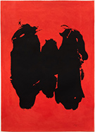 Artwork by Robert Motherwell on display at Leslie Sacks Gallery in Santa Monica, CA, January 14 - Feb 25, 2017