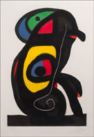 Artwork by Joan Miro, Le Brahmane, 1978, available from Leslie Sacks Fine Art in Los Angeles