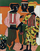 Artwork by Romare Bearden at Jenkins Johnson Gallery in San Francisco