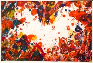 Artwork by Sam Francis, The East is Red, 1970, available at Leslie Sacks Fine Contemporary in Santa Monica, CA