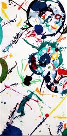 Artwork by Sam Francis, Untitled, 1990, available at Leslie Sacks Fine Contemporary in Santa Monica, CA
