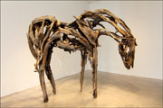 Sculpture by Deborah Butterfield available from Danese/Corey in New York