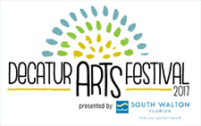 Decatur Arts Festival logo for 2017