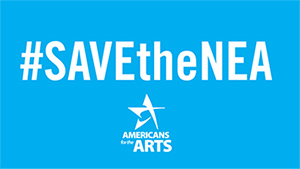 Save the National Endowment for the Arts banner