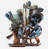 Sculpture in Glass and Steel by Albert Paley on exhibition at Museum of Glass in Tacoma, WA, through September 3, 2018