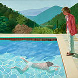 Artwork by David Hockney on exhibition at The Met Museum, November 27- Feb 25, 2018, New York, NY