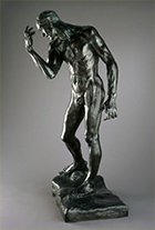 Scuplture by Auguste Rodin on exhibition at Brooklyn Museum in Brookly, NY, November 17 - Apr 22, 2018