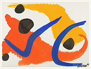 Artwork by Alexander Calder in group exhibition Sculptors on Paper at Childs Gallery in Boston, May 3 - August 19, 2018, 051018