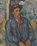 Artwork by Paul Cezanne on exhibition in Cezanne Portraits at National Gallery of Art in Washington, DC, March 25 - July 21, 2018