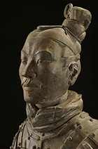 Photograph of Terracotta Warrior on exhibition at Cincinnati Art Museum through August 12, 2018