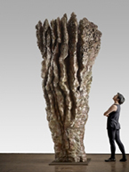 Artwork by Ursula Von Rydingsvard on exhibition at Galerie Lelong and Co. in New York, May 3 - June 23, 2018
