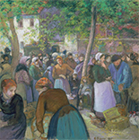 Artwork by Camille Pissarro on exhibition at Museum of Fine Arts in Boston, June 30 - January 6, 2019, 100918