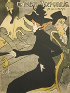 Artwork by Toulouse-Lautrec on exhibition at Frist Art Museum, in Nashville, TN, October 12 - January 6, 2019