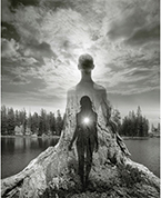 Artwork by Jerry Uelsmann on exhibition at the LSU Museum of Art, in Baton Rouge, LA, June 12 - October 14, 2018