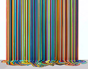 Artwork by Ian Davenport on exhibition at Dallas Contemporary in Dallas, Sept 30 - December 17, 2018