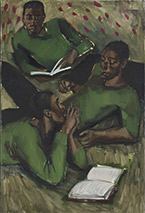 Artwork by Lynette Yiadom-Boakye exhibition at Jack Shainman Gallery in New York, 122618