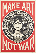 Artwork by Shepard Fairey for sale at Rago Auction House in New Jersey, February 24, 2019 020419