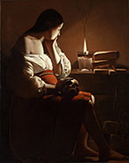 Artwork by Georges de La Tour on exhibition at the Portland Art Museum, April 13 - October 13, 2019, 050219