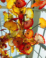 Artwork by Dale Chihuly on exhibiton at the Chihuly Garden and Glass in Seattle, 092819