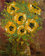 Artwork by Lianna Klassen, Sunflowers with Green Vase available from Zatista.com, 120919