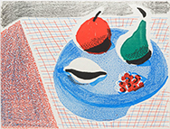 Artwork by David Hockney available from Leslie Sacks Gallery in Santa Monica, CA, August 2020, 030920