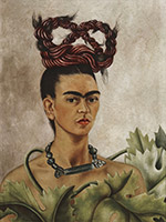 Artwork by Frida Kahlo on exhibition at de Young Museum in San Francisco, September 25 - February 7, 2021, 101820