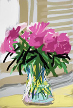 Artwork by David Hockney available from Leslie Sacks Gallery in Santa Monica, CA, December 2020, 121920