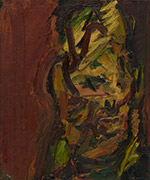 Artwork by Frank Auerbach on exhibition at James Cohan Gallery in New York, October 31 - February 20, 2021, 110720