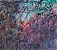 Artwork by Julie Mehretu on exhibition at High Museum of Art in Atlanta, October 24 - January 31, 2021, 101820