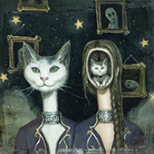 Artwork by Nadezda on exhibition at Corey Helford Gallery in Los Angeles, Nov 14 - January 9, 2021, 120520
