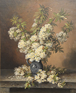 Artwork by Paul De Longpre, Still Life of Flowers in Pitcher for sale at Nadeau's Auction Gallery in Windsor, CT, January 1, 2021, 121720