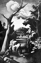 Lithograph by Thomas Hart Benton available from Kiechel Fine Art in Lincoln, NE, February 2021, 022721