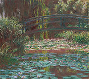 Artwork by Claude Monet on exhibition at Art Institute of Chicago in Chicago, Illinois, Sept 5 - June 14, 2021, 021921