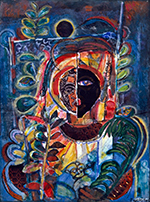 Artwork by David Driskell on exhibition at High Museum of Art in Atlanta, February 6 - May 9, 2021, 020521