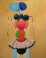 Artwork by George Condo available from Rosenfeld Gallery in Miami, 020921