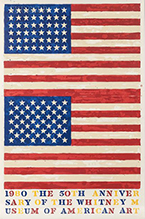 Print by Jasper Johns dated 1980 available from Leslie Sacks Gallery in Santa Monica, CA, February 2021, 020621