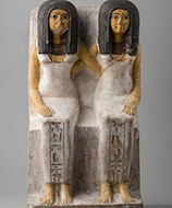 Ancient figures from Queen Nefertari's Egypt exhibition at Kimbell Art Museum, Fort Worth, TX, Dec 6 - March 14, 2021
