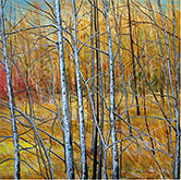 Painting by Ray Brandolino, title Autumn Trees available from Zatista.com, 022721
