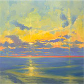 Painting by Timon Sloane, title Dissolving Sunset available from Zatista.com, 022721