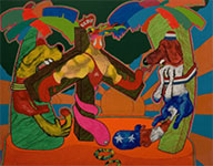 Artwork by Peter Saul on exhibition at Richard Taittinger Gallery, March 13 - May 16, 2021, 031221